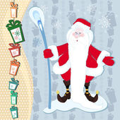 Santa Claus and the magic stick — Stock Photo