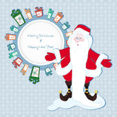 Frame for text in the gifts with Santa Claus — 图库照片