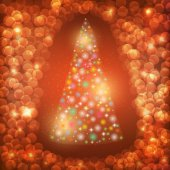 Abstract background with Christmas tree — Stock Photo