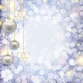 Christmas abstract background with diseasemyozyme pearl balls wi — Stock Photo