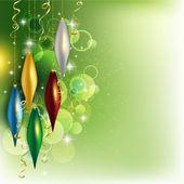 Christmas silver balls — Stock Vector
