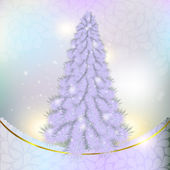 Christmas pink, grey herringbone on abstract background with sno — Stock Photo