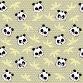 Seamless background from the muzzles Panda — Stock Vector