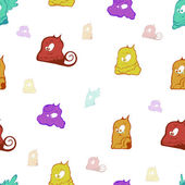 Seamless background from monsters — Stok fotoğraf
