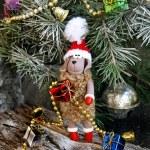 Christmas fur-tree toy sheep symbol 2015 — Stock Photo #59686547
