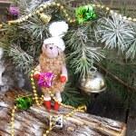 Christmas fur-tree toy sheep symbol 2015 — Stock Photo #59688701