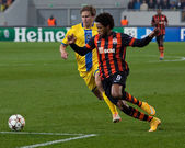 Shakhtar, Donetsk - BATE, Borisov soccer game — Stock Photo