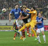 SHAKHTAR, Donetsk vs DNIPRO, Dnipropetrovsk soccer game — Stock Photo