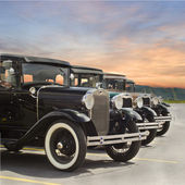 Vintage Ford Model A Automobiles — Stock Photo