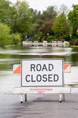 Road Closed Flooded Street — Stock Photo