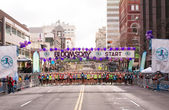 Lilac Bloomsday 2013 12k Fun Run Men's Elite Starting Line in Spokane WA — Stock Photo