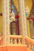 Thai art style in thai temple — Stock Photo