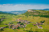 The Rock Of Vergisson and wine yard's, Burgundy, France — Stock Photo