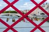 любовь замки на мосту — Стоковое фото