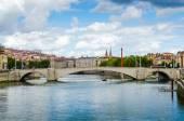 Bonaparte Bridge, Lyon, France — Stock Photo