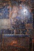 Kovové rezavé zkorodované textury pozadí — Stock fotografie