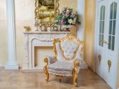 Aristocratic apartment interior in classic style — Stock Photo