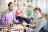 Architects in office — Stock Photo