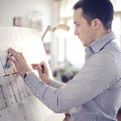 Architect in office — Stock Photo