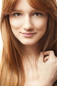 Woman with ginger hair — Stock Photo