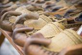 Traditional Serbian folk shoes — Stock Photo
