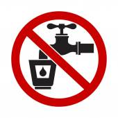 Do Not Drink Water Sign — Stock Vector