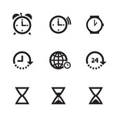 Set Of Clock Icons — Vector de stock