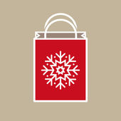 Christmas Holiday Gift Bag — Vecteur
