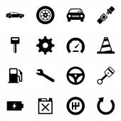 Car Automobile Icons Iconset — Stock Vector