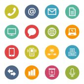 Communication Icons Iconset — Stock Vector