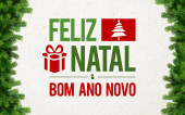 Feliz Natal Greeting Card — Stock Photo
