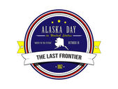 Day Alaska in the United States of America. Stamp. — Cтоковый вектор