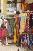 A colorful Greek tourist shop — Stock Photo