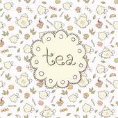 Herbata i słodycze — Wektor stockowy