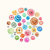Watercolor buttons — Stock Vector