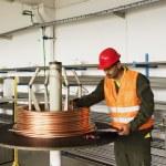Measuring copper wire. — Stock Photo #52068235