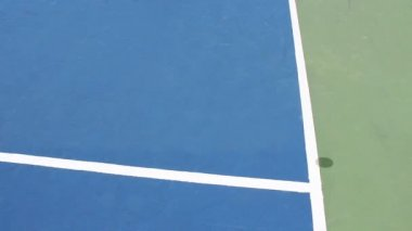 Lighter version. Hard surface tennis court. Mark is IN. — Stock Video