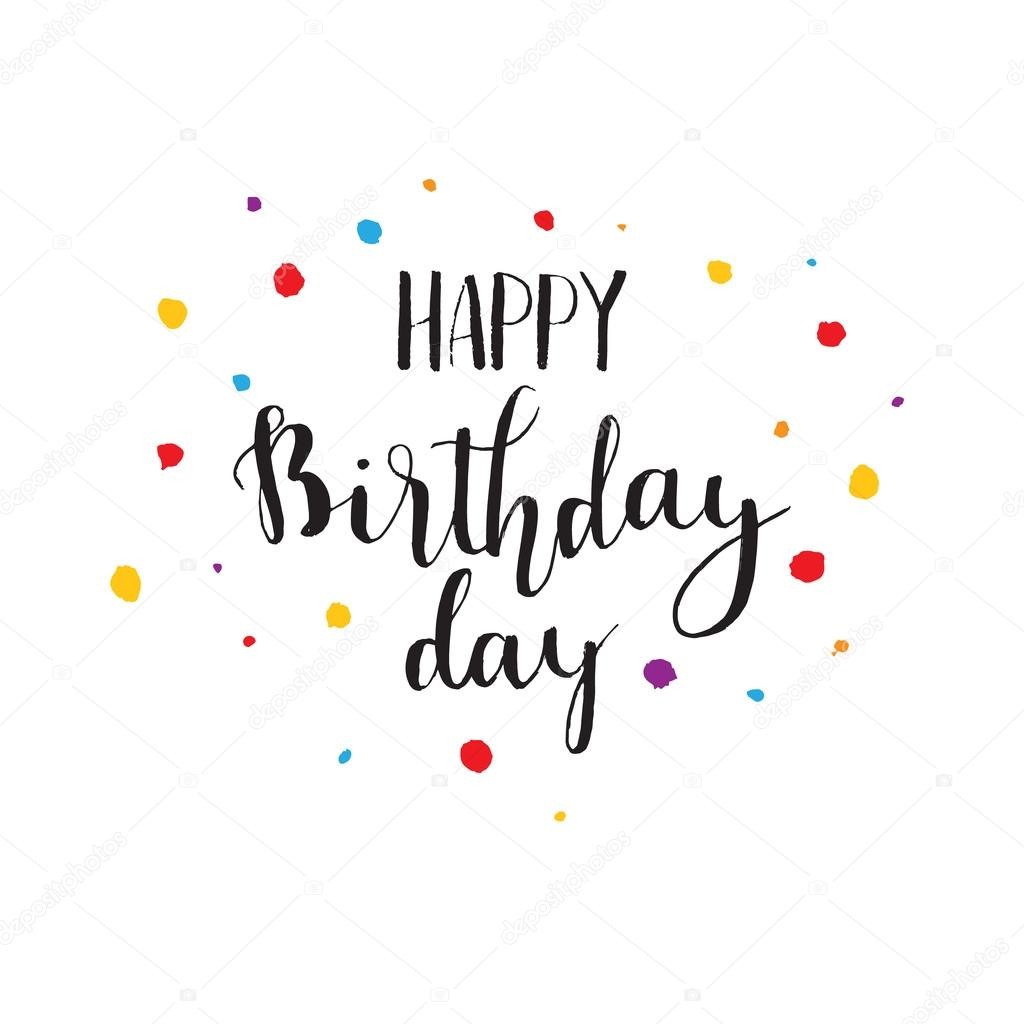 ... Birthday Brush Script Style Hand lettering — Stock Vector #109008462