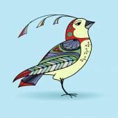 Magic abstract bird in kolor — Stock Vector