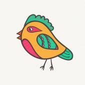 Abstract  bird. Vector illustration — Stock Vector