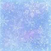 Padrão sem emenda de inverno com flocos de neve — Vetor de Stock