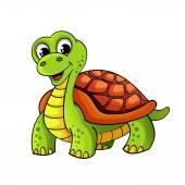 Funny cartoon turtle — Stock Vector