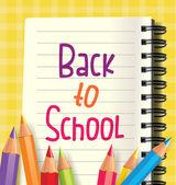 Zpátky do školy pozadí — Stock vektor