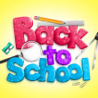 Colorful Back to School 3D Dimensional Text — Stock Photo #52142585
