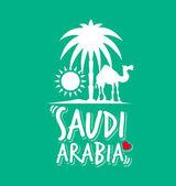 I love Saudi Arabia Words with Icons — Vetor de Stock