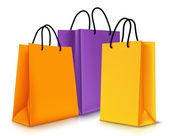 Set of Colorful Empty Shopping Bags Isolated. Vector Illustration — Stock Vector