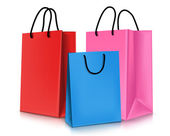 Set of Colorful Empty Shopping Bags Isolated. Vector Illustration — Vector de stock