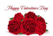 De dag van Valentijnskaarten zoete rode rozen — Stockvector