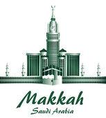 City of Makkah Saudi Arabia Famous Buildings — Stock Vector