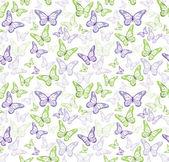 Bunte Schmetterlinge nahtlose Muster — Stockvektor